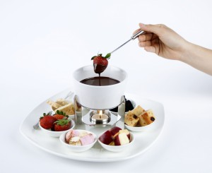 Chocolate Fondue for two 3