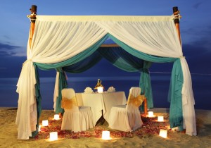 Romantic Dinner Pergola at Jimbaran Beach Club